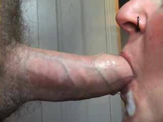 Another movie of me cumming in her mouth, good and close, with a bonus shot from another angle!  Might be getting carried away...
