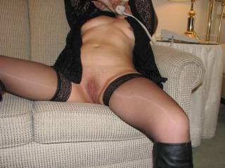 Would love to rub against your stockings  Sooooo sexy!