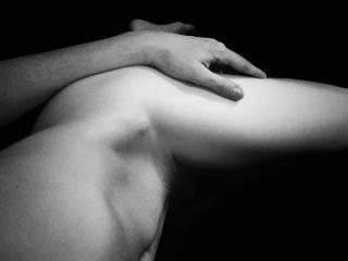 The black & white is so sensual..