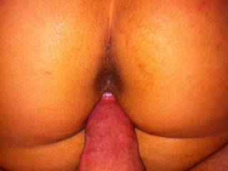 Love to slide my hard cock deep inside your tight little asshole as he fucks that juicy pussy