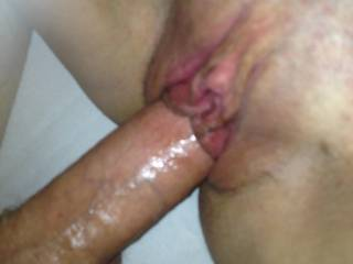 Wow!   Very nice fucking.   I love how rock hard you are and the way your huge cock spreads her pussy.   Thanks for sharing.