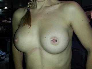 I hope you like my new nipple piercings as much as i do
