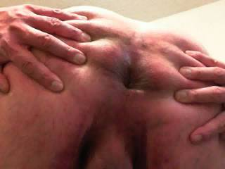 I'd love to pump a load in that nice ass! Just keep spreading those cheeks for me!