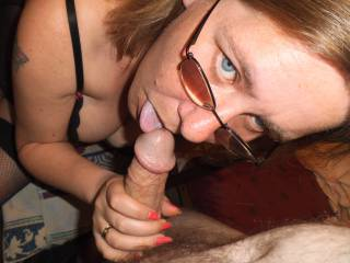 Nope...I want it to be me helping myself to that lovely cock of yours ;-) MsFC xoxo's