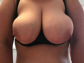 This sexy shelf bra my wife is wearing has been the most cock stiffing bra she's ever worn for my pleasure.