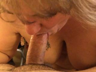 A lady I met on AFF while on vacation in Ohio sucking my cock so good