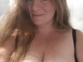My beautiful wife. WOW. Look at that face and those big tits, Let her know what you think.