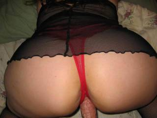 red thong\'s my fave...love to pull it aside n slip it home!!