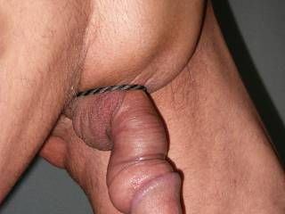 Just finished pumping my little cock with my balls tucked inside !