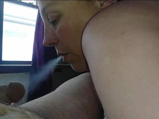 Getting ready for smokey blowjob