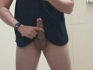 Big cock at work, I wish my manager deepthroat me balls deep or any mature woman with a hairy pussy