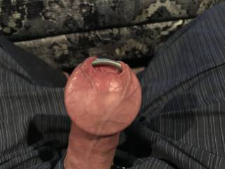 Love seeing what the biggest ring in I can get in my foreskin. What do to think.