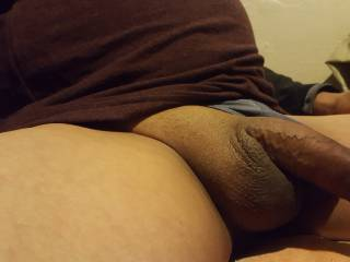 Just my dick waiting to be used.