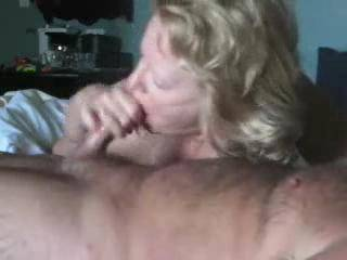 Milf wife sucking cock while on vacation.