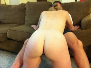 We finally setup my first gangbang this weekend! Hubby and 3 other guys had fun with me all night. This is the third cock I had in my mouth that night. Im just waiting for another cock from behind.
