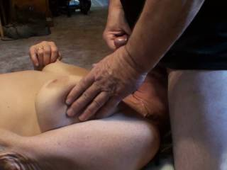 Love it when he shoots that big warm load all over my tits neck and even my got some on my face this time. And of coarse I had an orgasm just seconds before he came. Did you enjoy watching?