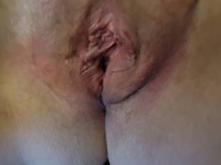 Pussy has his load deep inside