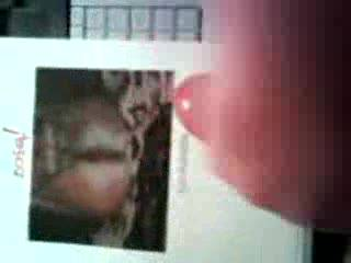 Cumming on jizz4ubabe\'s photo. Taken on a camera phone. Hopefully quality is good enough