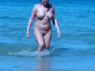 Would love to be sat on a beach and see you appearing naked out of the sea. By the time you reached the shore my cock would be hard and ready for you.