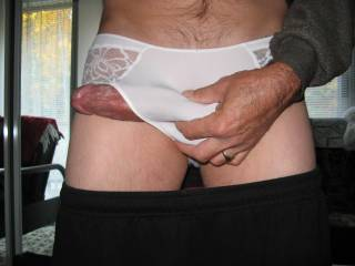 Soft sexy white panties,B-day gift from wife.