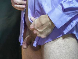 Just back from the office and takin\' it off from the bottom up. Stripping to tease!