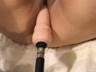 Sex Machine pounding my pussy! Will you lick my clit for me?