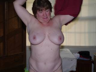 Wow love her big tits. Very nice. Can I suck on them while she plays with her toy?