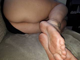 ass and dirty soles