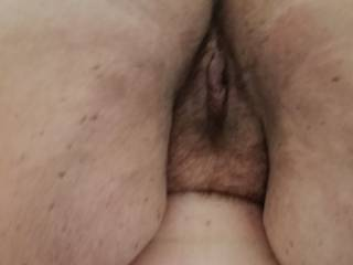 My wife showing off her best asset
