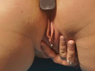 spread open and waiting
