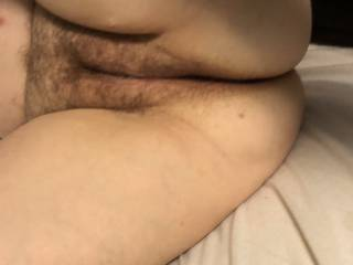 Spreading her hot mature pussy for me to eat and fuck.