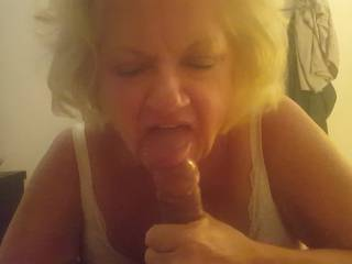 my older friend loves my cock and cum!