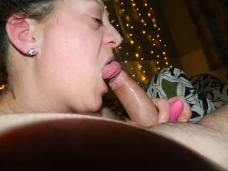 Licking the tip