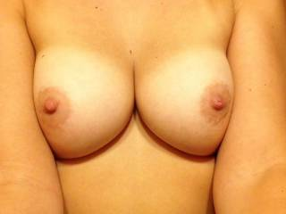 Drop a load on my big perky tits