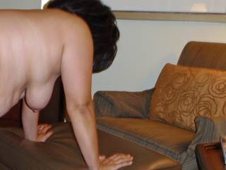 Weekend getaway at a luxury resort. Thought I would do some nude posing for hubby in our villa before he fucked me!