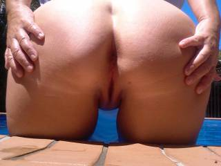 Love this view! Seems like an invitation for a doggystyle fuck! My cock is so hard right now for you! Mmmm, if only i could slide it inside your wet pussy!