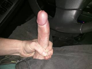Very, very nice big thick cock. Wish I was in that car too, give you some great road head and swallow every drop. See how many loads you can feed me
