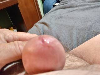 Got a little pre cum started