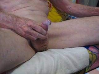 Stroking my cock as I watch my friend and cumming!!
