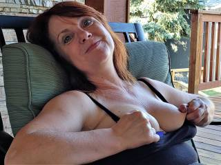 The teasing continues popping out her titties for me to watch her pinch and twist them for our viewing pleasure, do you like?