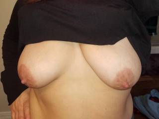 I love to rub cum all over my tits.