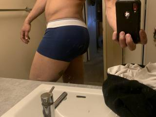 Just a quick pic of my thic ass ;) for those that love a undies ass shot
