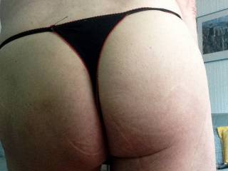 little black thong from the back