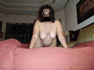 Posing nude for a few pics with my mystery mask before filming a blowjob video! Check out my vid...see my mouth get pumped full of hot cum!