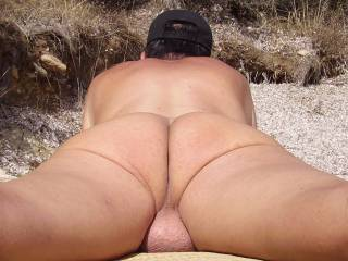 I want to lick those fat balls and that nice ass as well!
