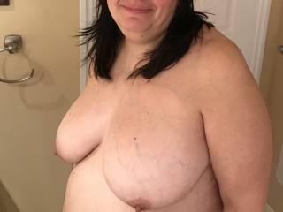 Hanging boobs