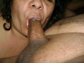 That must feel great. She has perfect lips for sucking.  I love south american women.  They're beautiful and passionate.