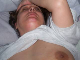 face of wife with cock up her ass