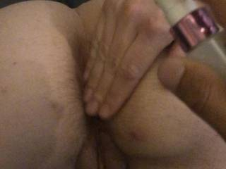 Getting ready to take it in my ass like a good girl