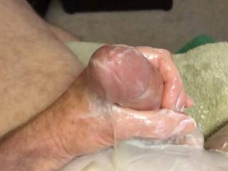 My thick, creamy cum keeps flowing.